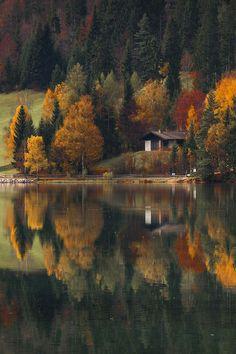 Autumn at the lake by  razvan macavei