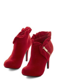 I know, heels--but so pretty. Boots & Booties - You Haute to Know Heel in Scarlet