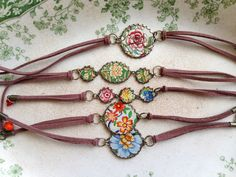 Tin Jewelry Bracelet Boho Bohemian Suede Cord Tin by TheMadCutter, $26.00