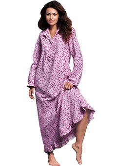 cbecb89bbb56a Fashion for Plus Size women at Roaman s Flannel Nightgown