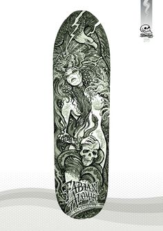 Rough concept - 'La Malinche' - Fabian Alomar signature model skateboard