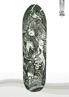 Rough concept - 'La Malinche' - Fabian Alomar signature model skateboard