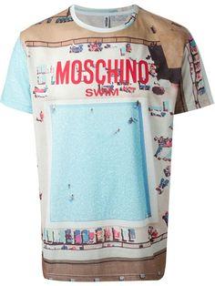buy popular dd67c afea4 Moschino Swimming Pool Print T-shirt - Elite - Farfetch.com Latest Mens  Fashion