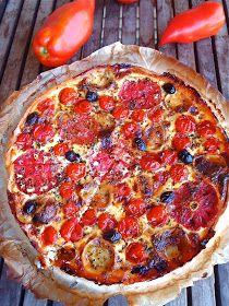 Quiche de tomates i formatge de cabra - Quiche de tomates y queso de cabra