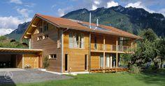 Ökologisches Holzhaus Ökohaus Schauer mit Credo Holzfassade