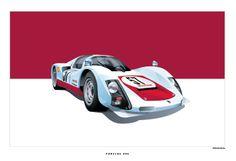 Porsche 906 Poster - Schening Creative
