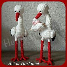 Schattige ooievaars! Lovely storks! Amigurumi