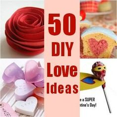 50 DIY Valentine's Ideas - Crafts & Baking. Great Valentine's Ideas for Adults and Valentine's I Love You Crafts #valentines