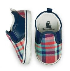 $8.99 Infant Plaid Slip-On Shoes - Rugged Bear Footwear - Events