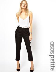ASOS Petite | ASOS PETITE Crop Trousers in Linen at ASOS