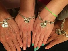 Big Sis, Middle sis, Little Sis, Baby Sis Matching Bracelets and don't forget about mom all from #inspiredsilver
