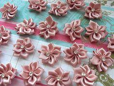5 Petite DIY satin flowers