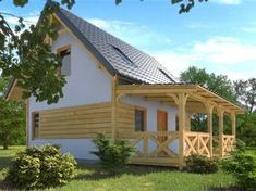 Dom drewniany LIBEREC I - Filian Domy Drewniane Bamboo House Design, Cottage Homes, Little Houses, Home Fashion, Ideal Home, Tiny House, Gazebo, Bali, Sweet Home