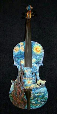 A beautiful art piece connect with an instrument that makes  a beautiful sound. Harmony.