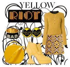 """Yellow riot"" by eliza-81 ❤ liked on Polyvore featuring Nico Giani, La DoubleJ, Marni, Sies Marjan, Moschino, Gorjana and yellow"