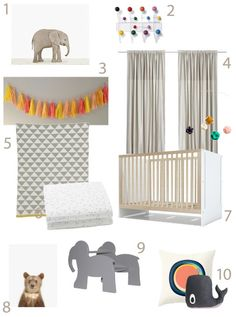 Get the Look FOR LESS: The Animal Print Shop Baby Elephant Nursery