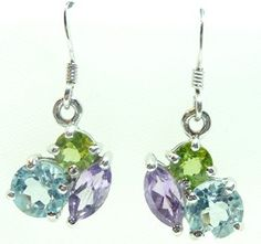 Fabulous Multi gemstone earrings!