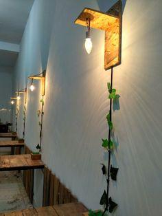 Hand made light for cafe