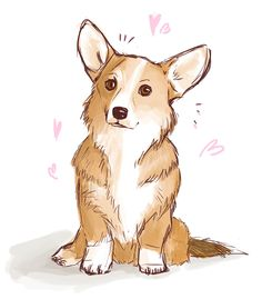 kjvertyart:Hey guys, have a corgi in these rough times (at least. (OCD: Obsessive Corgi Disorder) Drawing Tips animal drawings Corgi Drawing, Cute Dog Drawing, Cute Animal Drawings, Cute Drawings, Drawings Of Dogs, Drawing Animals, Sitting Dog Drawing, Dog Illustration, Landscape Illustration