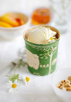 Chamomile and honey ice cream