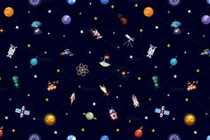 Big Box of Space Infographics Icons by Decorwith.me Shop on Creative Market