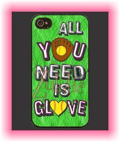 Custom Softball Mom Love Phone Case on Etsy, $10.00