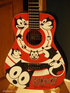 I love Felix the Cat and was tickled when I saw these guitars.