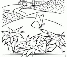 Farm Coloring Sheets Farm Coloring Pages, Coloring Sheets, Garden Farm, Farm Gardens, Clip Art, Wallpaper, Home Decor, Colouring Sheets, Decoration Home
