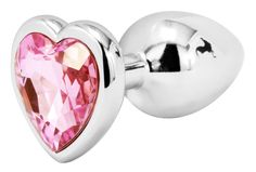 Handsome Cock Small Pink Heart Jewelled Butt Plug, £9.99