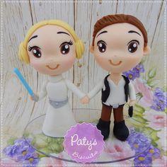 Noivinhos Personalizados Star Wars - Princesa Leia e Han Solo - Paty's Biscuit