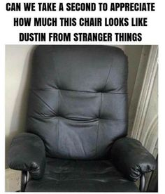 Can We Take A Second To Appreciate How Much This Chair Looks Like Dustin From Stranger Things #funny #meme