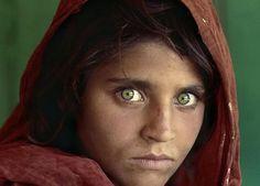 There is probably no photographer alive with quite as recognizable a photograph as the Afghan Girl by Steve McCurry. Description from rompedas.blogspot.ca. I searched for this on bing.com/images