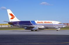 Pacific Western Airlines Boeing 737-200; C-FPWP, September 1981/BVY From Aero Icarus collection