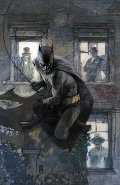 from my feature on the graphically innovative Marvel artists (here: Alex Maleev: Batman) who paved the way for the Netflix Daredevil...