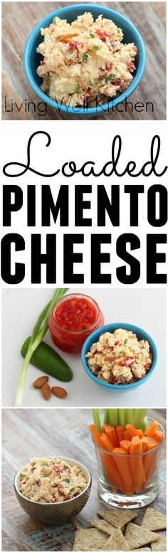 Loaded Pimento Cheese from @memeinge is a loaded cheese spread perfect for snacking any time of the day made with Real California Milk cheese and packed with almonds, jalapeños, garlic, and green onions. (sponsored) #cheese #appetizer #snacks #pimentocheese #southernfood Healthy Dips, Healthy Side Dishes, Side Dish Recipes, Healthy Food, Cheesy Recipes, Real Food Recipes, Vegetarian Recipes, Healthy Recipes, Low Carb Appetizers