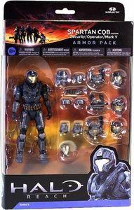 diego want for birthday Halo Reach McFarlane Toys Armor Pack Spartan CQB Custom & 3 Sets of STEEL Armor [Security, Operator & Mark V] COLLECTORS CHOICE!
