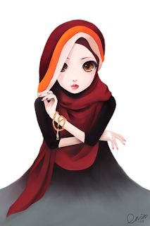 See Life: Muslimah Cartoon (Transparent)