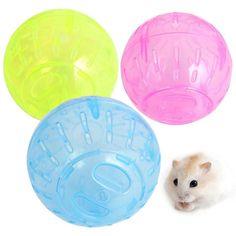 1Pcs Hamster Ball Toy Rabbit Gerbil Rat Running Exercise Jogging Ball Plastic Grounder Hamster Ball For Pet Small Toy P10
