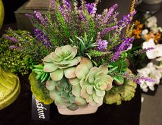 Custom spring faux floral decor arrangement from Holiday Warehouse