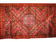 Red Wall hanging Indian Inspired Tapestry Throw #Wall Tapestry #Indian Tapestry #mogulinterior