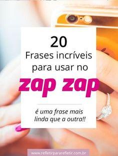 Clica aqui pra ver, não paga nada ;) Frases para usar no Whatsapp!! #zapzap #whats #whatsapp