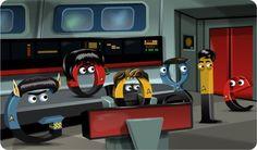 Google logo -Sept 7, 2012  Celebrating 45 years of Star Trek!