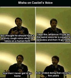 Misha Collins. Poor guy never got to go home :c