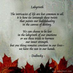 About the labyrinth.....