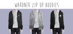 I was too lazy to take more preview pictures…as you can tell.. Zip Up Hoodies •…