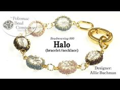 Halo - Necklace or Bracelet Tutorial - YouTube.  Supplies from www.potomacbeads.com