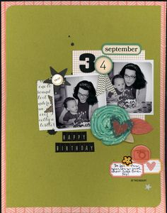 Happy Birthday - by Nicole Martel using the Amy Tangerine Ready Set Go and SoHo Garden collections from American Crafts. #amytangerine #scrapbooking #layout #birthday