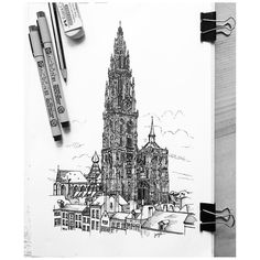 From @jerry_m33  The Cathedral of #NotreDame Antwerp (1352) is the largest Gothic church in #Belgium. The North-west tower which is over 120m high. #gothic #cathedral #belgium #detial #aesthetic #intense #great_church #religion #big #high_gothic #architecture #architecturelove #sketchlife #lartquitecte #arquitetapage #ARQSKETCH #ar_sketch #arqsketch #nationalart #archisketcher #dailydose #arqsketch_ #archfolios #architecturelove @archfolios @arch_more @architecturestudent #micron #sketchbook…