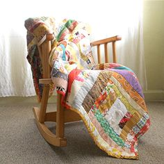 Handmade Patchwork Quilt by viAnneli, Custom Quilt for Baby, 40 x 40