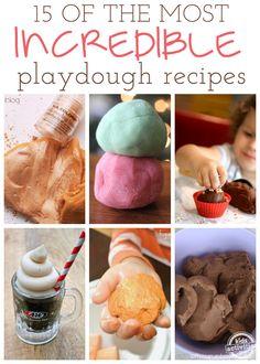 15 Incredible Playdough Recipes